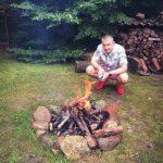 Grzybobranie piękno natury rozpalamy ognisko